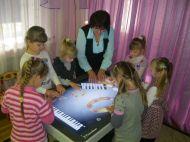 Необычный оркестр дошкольников образовательного холдинга с использованием интерактивного стола